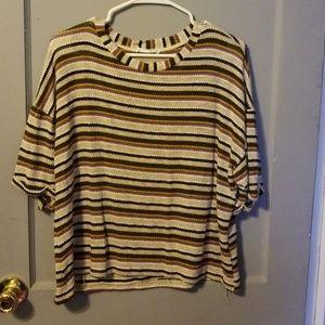 Lush striped top medium